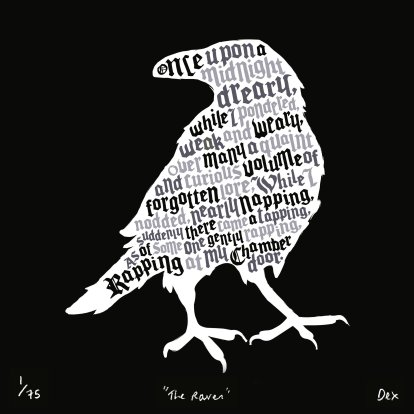 the-raven-edgar-allan-poe-art-print-black